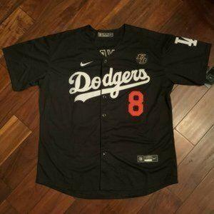 Kobe Bryant Dodgers Black Jersey 8 24